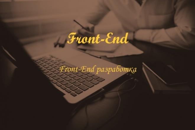 Front-end разработкаВерстка и фронтэнд<br>Сверстаю HTML5 страницу с использованием CSS3, JavaScript (библиотека jQuery), по желанию добавлю js-плагины.<br>
