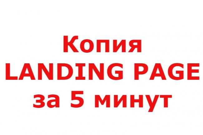 Копия любого лендинга за 5 минут 1 - kwork.ru