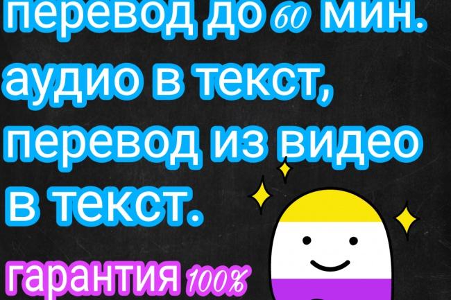 Перевод из аудио,видео в текст,транскрибация текста 1 - kwork.ru