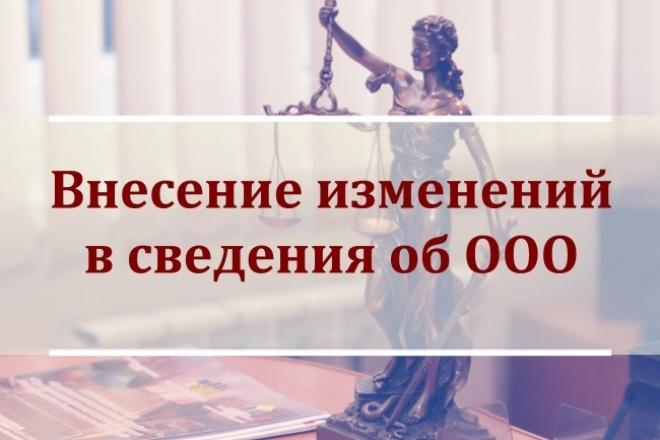 Подготовлю документы для внесения изменений в сведения об организации 1 - kwork.ru