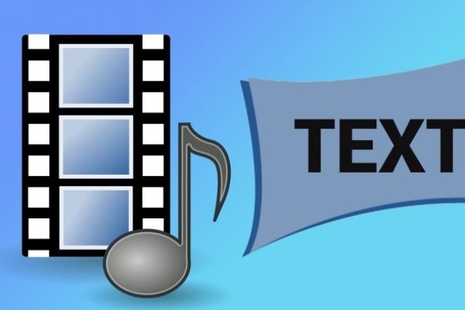 Транскрибация перевод речи из аудио или видео в текст 1 - kwork.ru