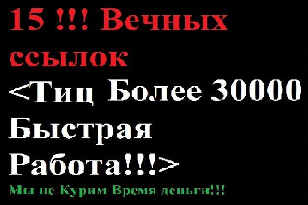 ТИЦ более 30000, 15 вечных ссылок с ТОПфорумов страны.Быстрая работа 1 - kwork.ru