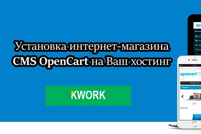 Установка интернет-магазина CMS OpenCart на Ваш хостингАдминистрирование и настройка<br>Услуга по установке интернет-магазина OpenCart включает в себя: 1) Установка Opencart на ваш хостинг 2) Базовые настройки в админке Мои работы: http://78led.ru<br>