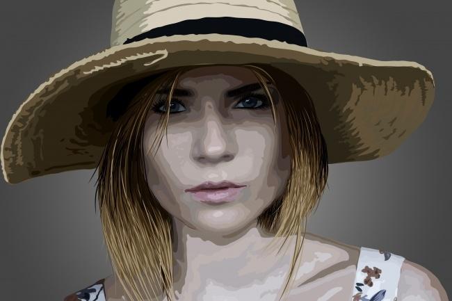 Портрет в векторе по вашей фотографии 1 - kwork.ru