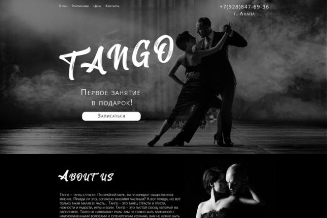 Дизайн лендинга - landing page 1 - kwork.ru