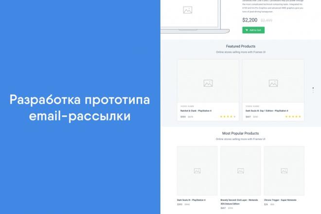 Разработка прототипа Email-рассылки 1 - kwork.ru