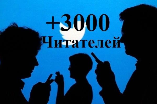 3000 подписчиков Twitter. Только реальные пользователиПродвижение в социальных сетях<br>Исполнители это люди, а не аккаунты, созданные программой и ею добавляемые. Строгие критерии для аккаунтов. Работаем только с проверенными пользователями. Добавление 3000 подписчиков-читателей на ваш аккаунт в Twitter! Естественное продвижение. Срок выполнения – 1-5 суток (естественный прирост подписчиков). Процент отписки: до 1-3% (поэтому всегда делаем больше). ? Никаких санкций от социальной сети. Важно: все люди живые! Читатели не целевые, но проявляют активность к записям. Это поднимает рейтинг профиля в поисковых системах. И как следствие, произойдет приток уже целевых, пришедших с поиска читателей.<br>