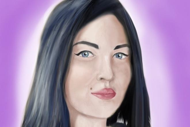 Нарисую портретИллюстрации и рисунки<br>Я рисую в программе Photoshop. Выполню работу любой сложности. Воплощу ваши мысли и идеи в реальность. Готовый рисунок вы сможете распечатать на холсте или на бумаге, чехле для телефона, ноутбуку и т.д.<br>