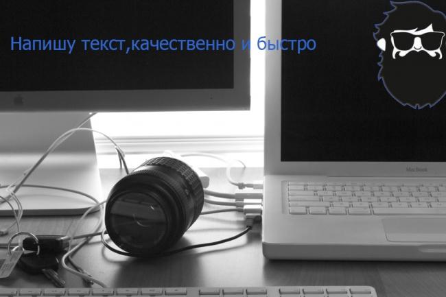 Напишу текст за вас,качественно, быстро 1 - kwork.ru