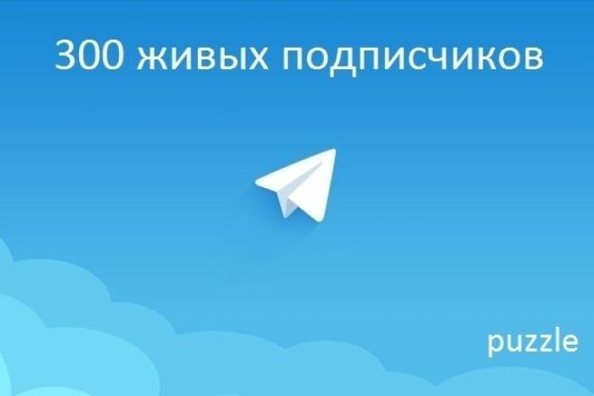 300 подписчиков на ваш Telegram каналПродвижение в социальных сетях<br>Создали Telegram канал, но никто не подписывается? Тогда советую вам воспользоваться моей услугой, и получите 300 живых подписчиков на ваш канал. Процент отписок не большой, как правило не превышает 10%. Работу выполняю быстро и качественно. Подписчики - граждане России, немного Украины.<br>