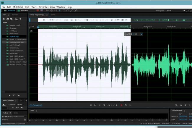Сделаю аудиомонтажАудиозапись и озвучка<br>Обработаю аудиозапись, смонтирую ее согласно вашей задачи, улучшу звук. Использую профессиональные аудиоредакторы и плагины для обработки звука. Режу, чищу, клею - опыт 8 лет.<br>