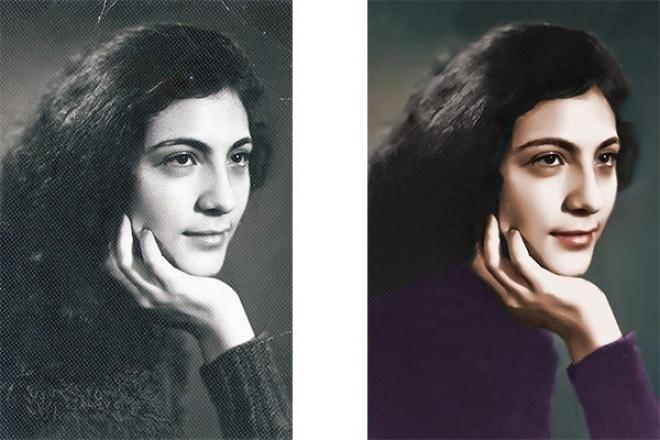 отреставрирую и придам цвет вашей старой фотографии 1 - kwork.ru