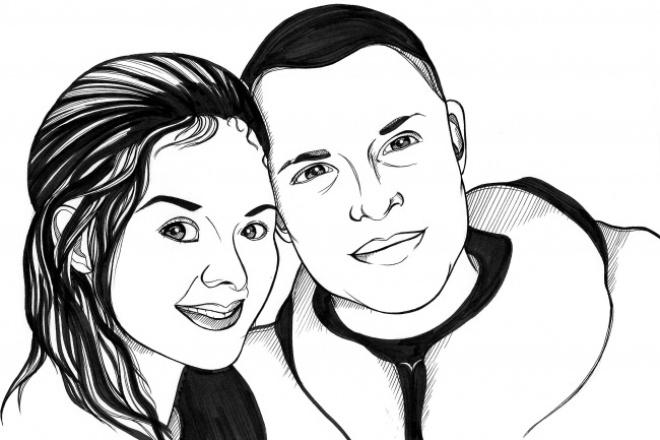 Портрет маркерами А5Иллюстрации и рисунки<br>Портрет по фотографии. Формат: А5. Материалы: маркеры, линеры, тушь. Для портрета необходима качественная фотография.<br>