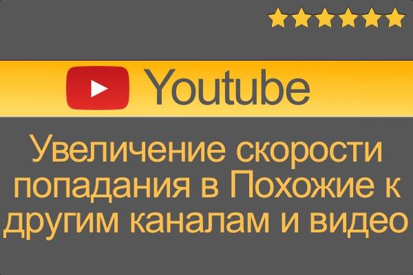 Увеличение скорости попадания видео в Похожие к другим каналам 1 - kwork.ru