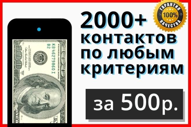 База из 2000+ контактов по критериям 1 - kwork.ru