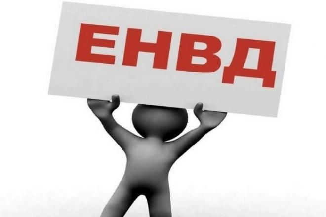 Составление декларации по ЕНВД 1 - kwork.ru