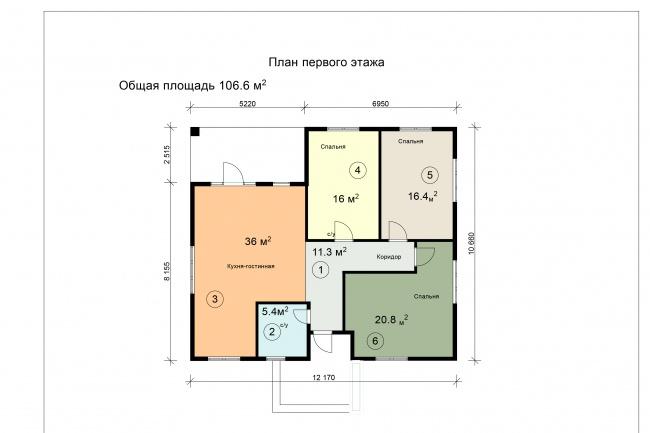 Спроектирую дом и коттедж 1 - kwork.ru