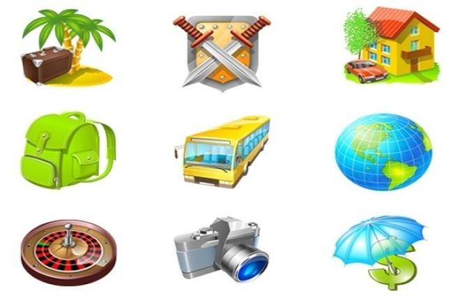 Сделаю 5 иконок для сайтаБаннеры и иконки<br>Сделаю 5 иконок для сайта любой сложности, учитывая ваши пожелания в цвете и размере продукта, срок до одного дня.<br>