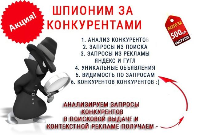 25 вместо 15. Запросы и объявления Ваших конкурентов на ладони 1 - kwork.ru