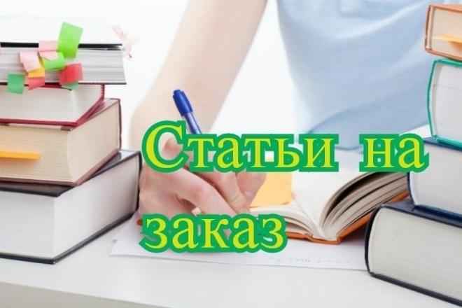 Напишу статью на любую тему 1 - kwork.ru