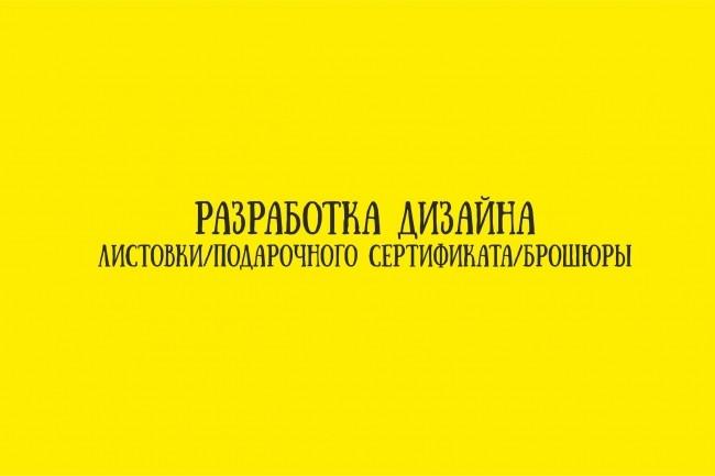 Разработка дизайна листовки с 0 и по вашим примерам 1 - kwork.ru