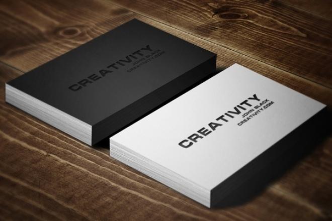 Сделаю дизайн визитных карточек 1 - kwork.ru