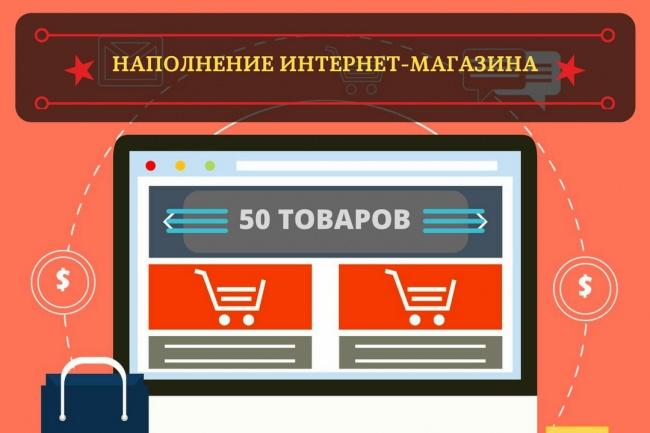Наполнение интернет-магазинаНаполнение контентом<br>Я готов предложить Вам услуги по качественному наполнению Вашего интернет-магазина товаром. В наполнение интернет-магазина для 1 кворка входит: название, описание, 1 фото, цена товара - 50 позиций. Все товары наполняются вручную.<br>