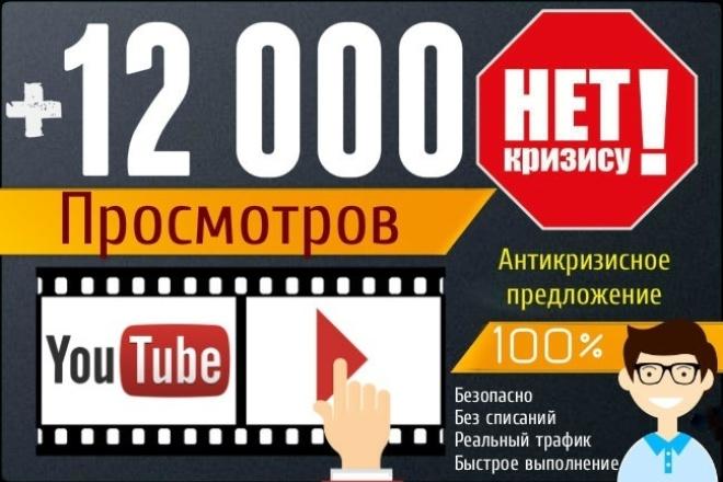 12 000 Youtube просмотры видео (качественные просмотры) 100% безопасно 1 - kwork.ru