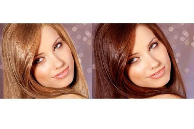 Изменю цвет волос на фотографии 1 - kwork.ru