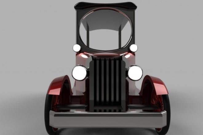Сделаю 3D модель авомобиля 1 - kwork.ru