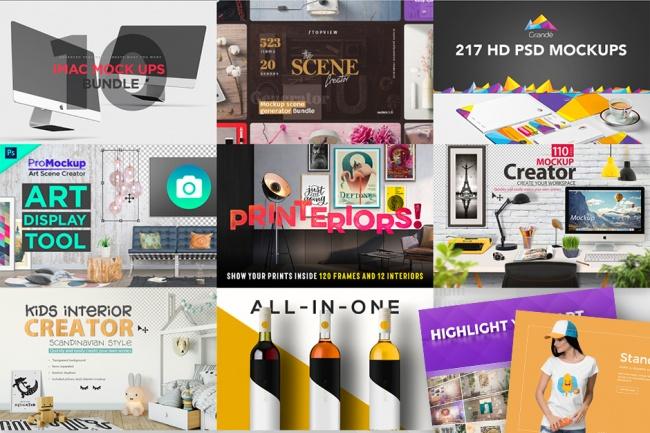 1000 потрясающих шаблонов макетов сцен и предметов + бонусГотовые шаблоны и картинки<br>В набор входят предметы связанные с одеждой, канцтовары, упаковка, 3D, анимированные макеты, брендинг, бумага, печать, техника, рамки, плакаты, столы, винные бутылки и многое другое! Добавьте ваши произведения, и создайте потрясающие реалистичные результаты. Каждый макет был тщательно сфотографирован в высоком разрешении, с профессиональным подходом к каждой детали, такие как освещение, углы и общая реалистичность. Демо http://goo.gl/srzMwD Полная Расширенная лицензия Смотрите мои другие кворки- http://kwork.ru/user/nerdfox<br>