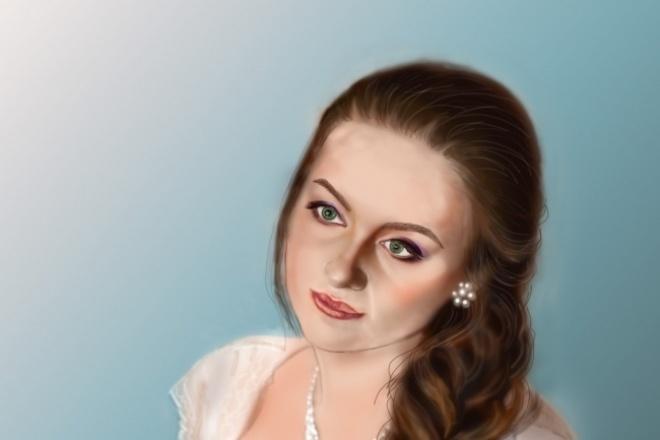 Напишу портрет по фото 1 - kwork.ru