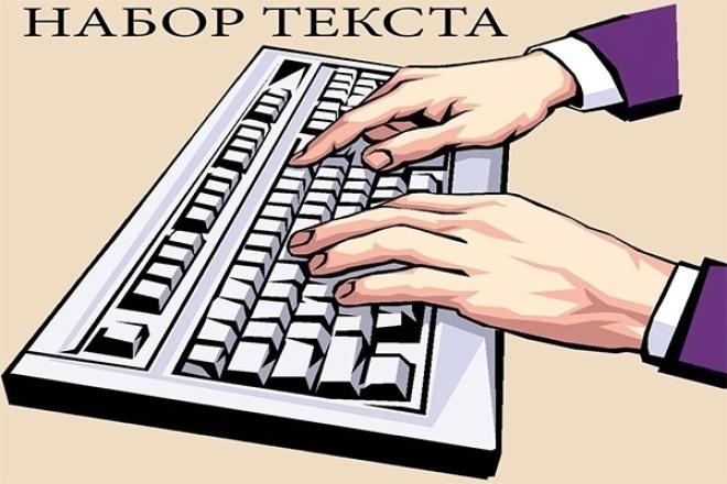 Наберу текст качественно и скрупулезноНабор текста<br>1 кворк – набор текста с изображений (сканов, фото) до 10000 знаков. Выделение текста заглавий, терминов и важной информации, как и в общем форматирование, в дополнительных опциях. Задания выполняю на русском языке, однако могу взяться за набор текста с изображений на английском и немецком до 5000 знаков за 1 кворк.<br>