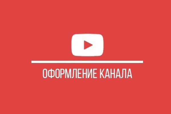 Оформление канала YouTube 1 - kwork.ru