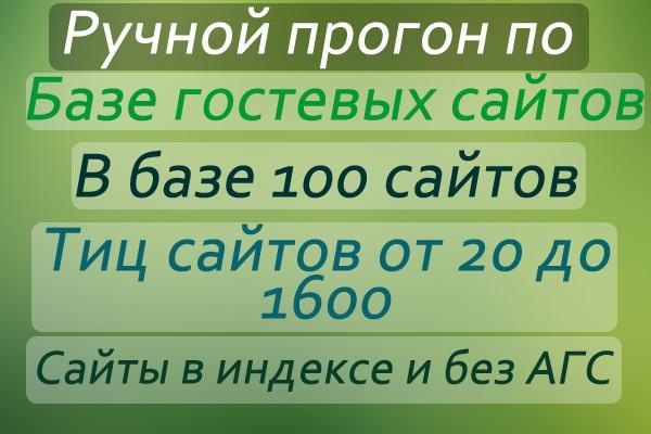 Прогон по гостевым сайтам(сайты с тиц от 20 до 1600),в базе 100 сайтов 1 - kwork.ru