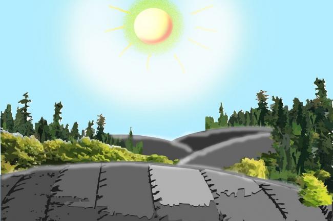 отрисовка персонажей и фонов для дальнейшей анимации 1 - kwork.ru