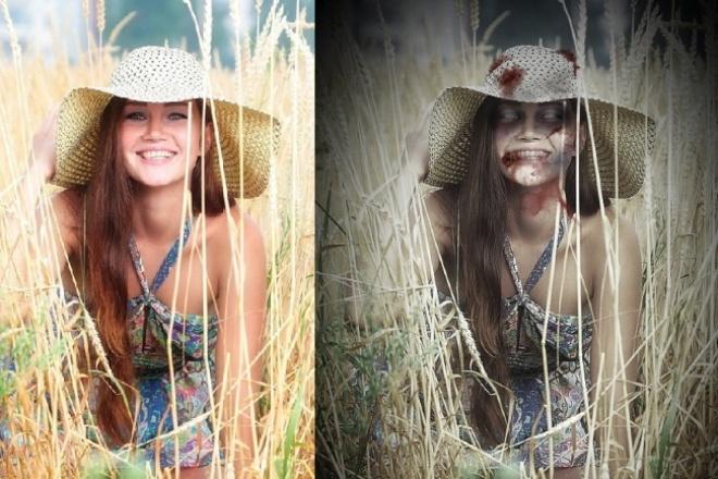 Сделаю 3 фото в зомби-стиле 1 - kwork.ru