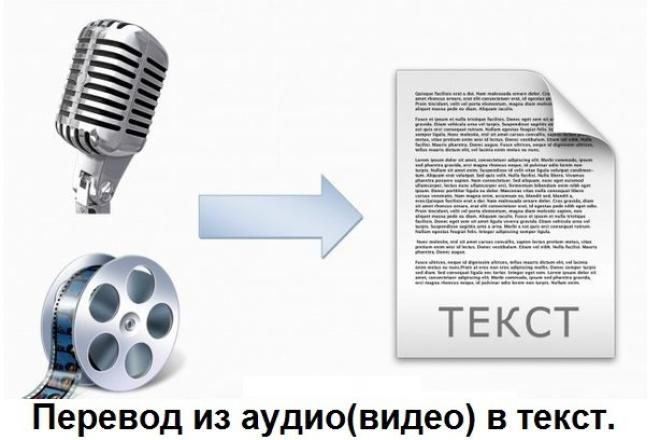 Перевод из аудио в текст, перевод из видео в текстНабор текста<br>Здравствуйте. Предлагаю вам следующие услуги: Перевод из аудио(видео) в текст. Грамотно и быстро перепечатаю текст! Дословная расшифровка записей лекций, семинаров, тренингов, видео-уроков и т.д. Работу выполняю быстро, четко и грамотно. Настроена на продолжительное сотрудничество. Внимание! В данный кворк входит работа только с записями среднего и хорошего качества и только на русском языке. Плохого качества не принимаю. Если вам нужна работа срочно (в течение 24 часов) вам нужно заказать дополнительную услугу.<br>