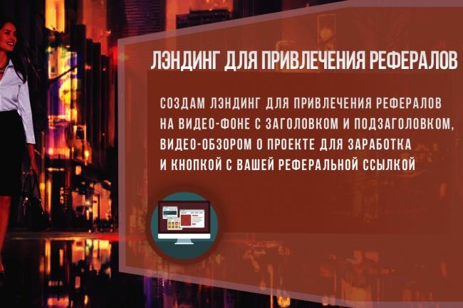 Сделаю лэндинг для видеообзора с целью привлечения рефералов 1 - kwork.ru