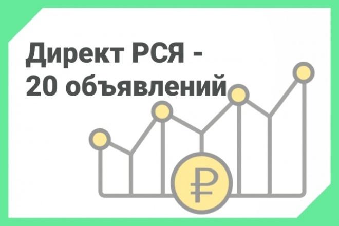 РСЯ под ключ, кампания на 20 объявлений 1 - kwork.ru
