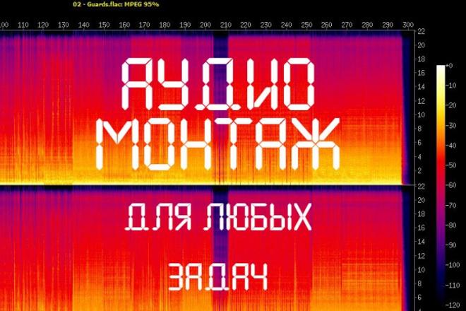 Аудиомонтаж, обработка и редактирование любых звуковых аудиофайлов 1 - kwork.ru