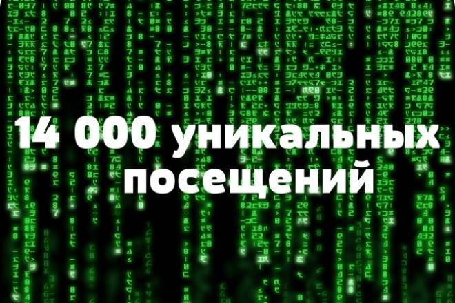 14 000 уникальных посещений на ваш сайт за неделю 1 - kwork.ru
