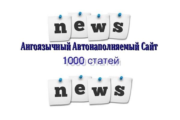В продаже англоязычный новостной сайт news сми с бонусом 21 - kwork.ru