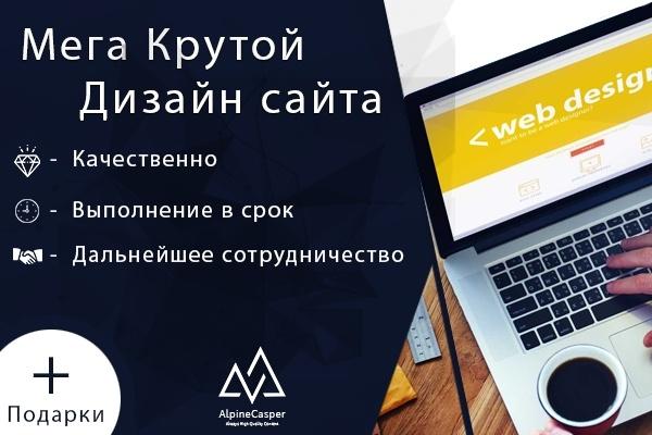 Красивый дизайн страниц вашего сайта 1 - kwork.ru