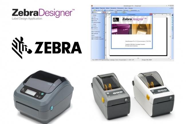 Сделаю этикетку в Zebra Designer 1 - kwork.ru