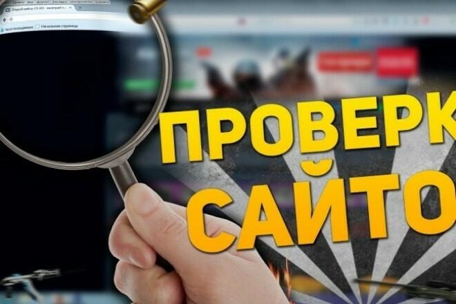 Протестирую вашы сайты 1 - kwork.ru