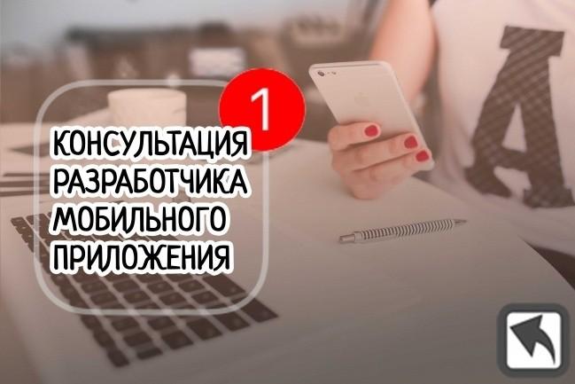 Консультация мобильного разработчика 1 - kwork.ru