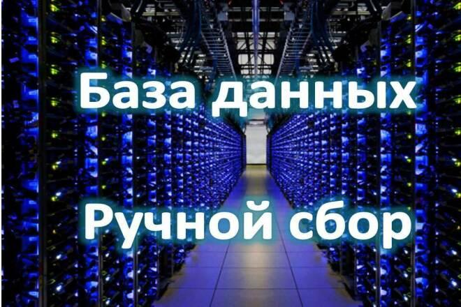 Ручной сбор контактных данных компаний -e-mail, сайты, телефоны 1 - kwork.ru