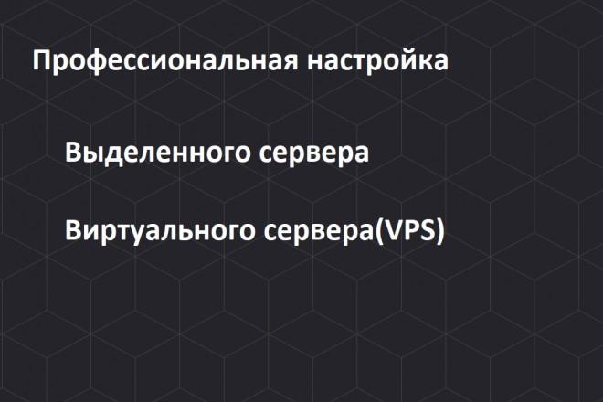 Создам и настрою выделенный сервер и VPS 1 - kwork.ru