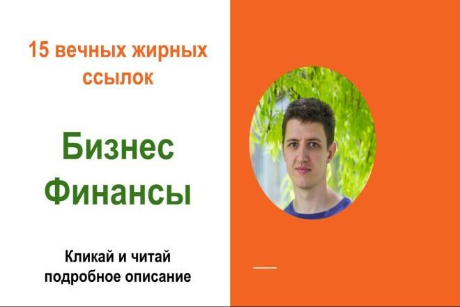 Вечные жирные профильные ссылки, тематики - бизнес финансы 1 - kwork.ru